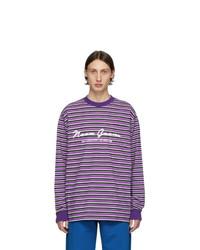 T-shirt à manche longue à rayures horizontales pourpre Noon Goons