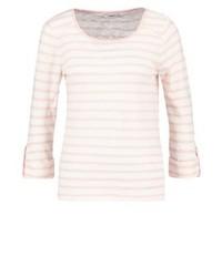T-shirt à manche longue à rayures horizontales rose Only