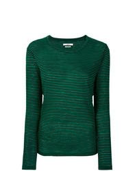 T-shirt à manche longue à rayures horizontales vert Isabel Marant Etoile