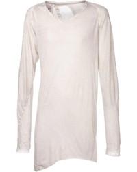 T-shirt à manche longue beige
