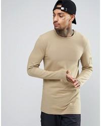 T-shirt à manche longue beige Asos