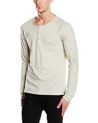T-shirt à manche longue beige Selected