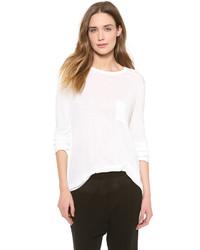 T-shirt à manche longue blanc Alexander Wang