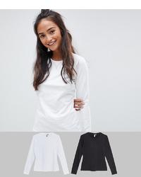 T-shirt à manche longue blanc ASOS DESIGN