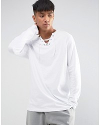 T-shirt à manche longue blanc Asos