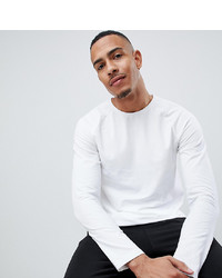 T-shirt à manche longue blanc Burton Menswear