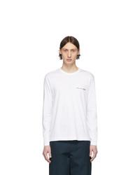 T-shirt à manche longue blanc Comme Des Garcons SHIRT