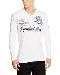 T-shirt à manche longue blanc Geographical Norway