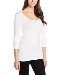 T-shirt à manche longue blanc Ichi