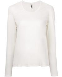 T-shirt à manche longue blanc Jil Sander