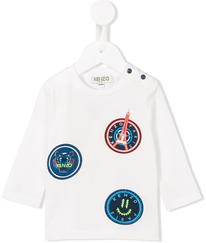 T-shirt à manche longue blanc Kenzo