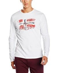 T-shirt à manche longue blanc Napapijri