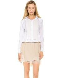 T-shirt à manche longue blanc Nina Ricci