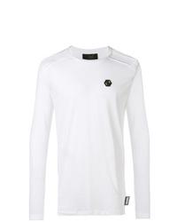 T-shirt à manche longue blanc Philipp Plein