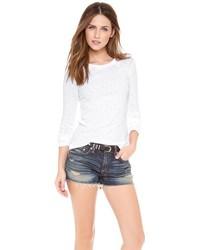 T-shirt à manche longue blanc Rag & Bone