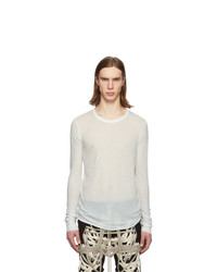 T-shirt à manche longue blanc Rick Owens