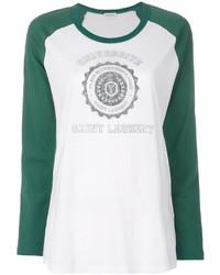 T-shirt à manche longue blanc Saint Laurent