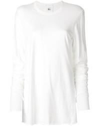 T-shirt à manche longue blanc