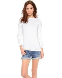 T-shirt à manche longue blanc Vince
