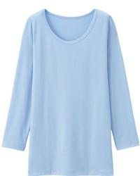 T-shirt à manche longue bleu clair