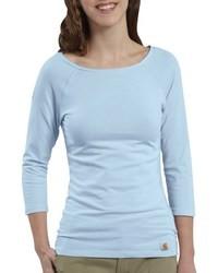 T shirt a manche longue bleu clair original 2880015