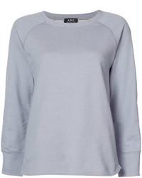 T-shirt à manche longue bleu clair A.P.C.