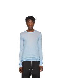 T-shirt à manche longue bleu clair Rick Owens