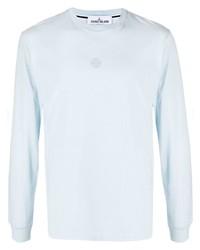 T-shirt à manche longue bleu clair Stone Island