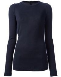 T shirt a manche longue bleu marine original 1282785