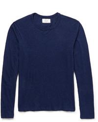 T-shirt à manche longue bleu marine