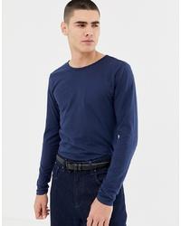 T-shirt à manche longue bleu marine Another Influence