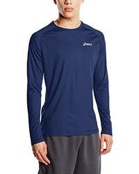 T-shirt à manche longue bleu marine Asics