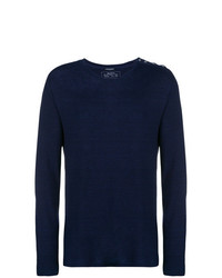 T-shirt à manche longue bleu marine Balmain