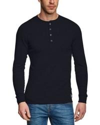 T-shirt à manche longue bleu marine Jack & Jones