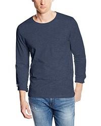 T-shirt à manche longue bleu marine Selected