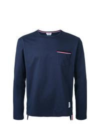 T-shirt à manche longue bleu marine Thom Browne