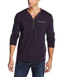 T-shirt à manche longue bleu marine Tom Tailor