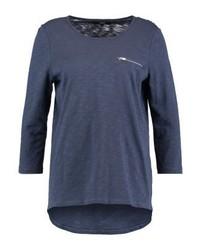 T-shirt à manche longue bleu marine Vero Moda