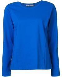 T-shirt à manche longue bleu