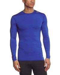 T-shirt à manche longue bleu adidas