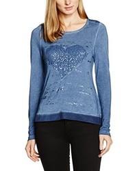 T-shirt à manche longue bleu Bonita