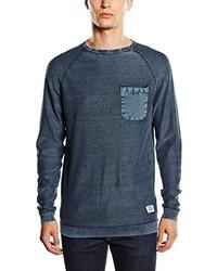 T-shirt à manche longue bleu Jack & Jones