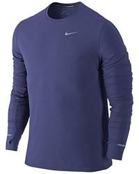 T-shirt à manche longue bleu Nike