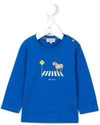 T-shirt à manche longue bleu Paul Smith