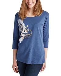 T-shirt à manche longue bleu Pioneer