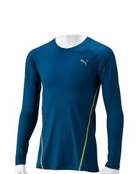 T-shirt à manche longue bleu Puma
