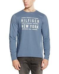 T-shirt à manche longue bleu Tommy Hilfiger