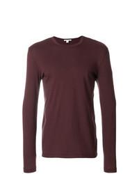 T-shirt à manche longue bordeaux