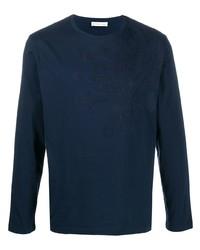 T-shirt à manche longue brodé bleu marine Etro
