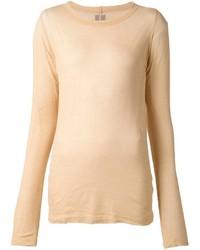 T-shirt à manche longue brun clair